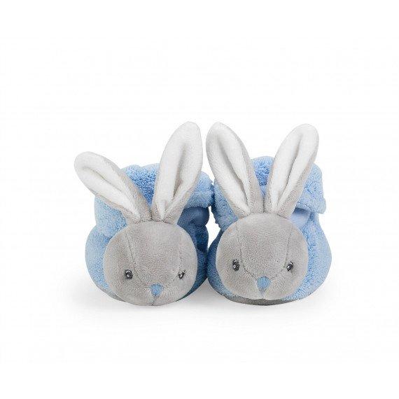 Chaussons lapinou bleu Plume - Kaloo