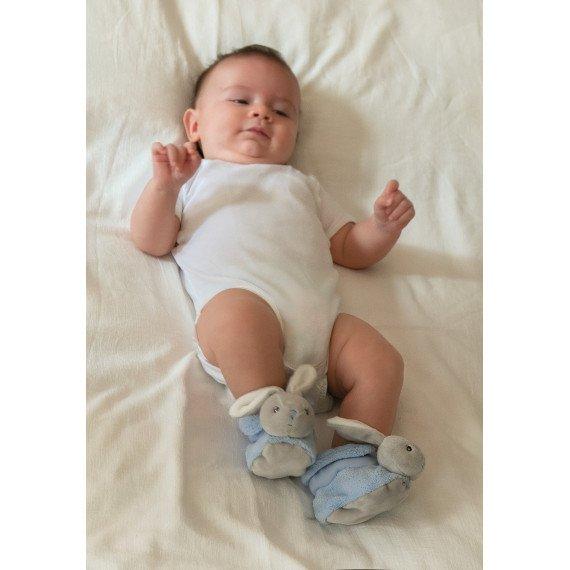 Chaussons lapinou bleu Plume - Kaloo - bébé