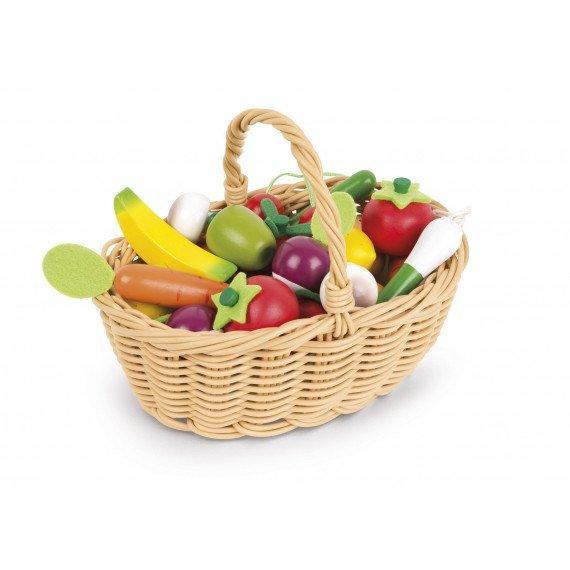 Panier de 24 Fruits et Légumes - Janod - panier