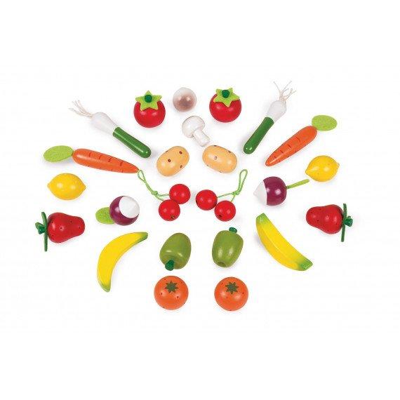 Panier de 24 Fruits et Légumes - Janod