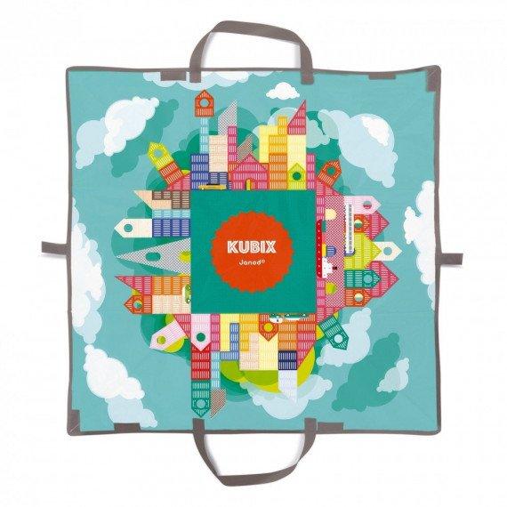 Kubix 70 cubes Archi - Janod - ouvert