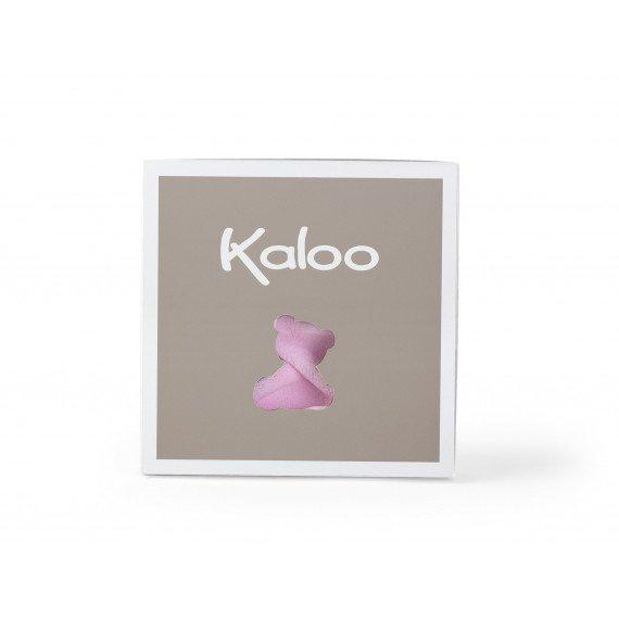 """Doudou Ourson """"Plume rose"""" - Kaloo - boite"""