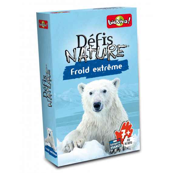 "Défis Nature "" Froid Extrême"" - Jeu de cartes - Bioviva - boite"