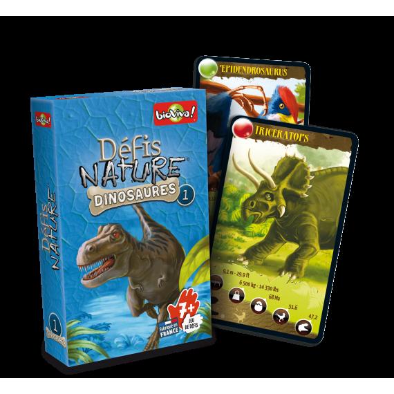 """Défis Nature """" Dinosaures 1"""" - Jeu de cartes - Bioviva"""