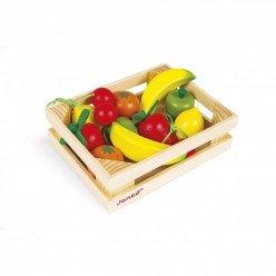 Cagette en bois de 12 fruits