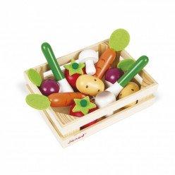 Cagette en bois de 12 légumes