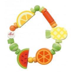 Bracelet en bois pour enfant Fruits exotiques - Sevi