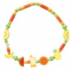 Collier en bois pour enfant Fruits exotiques - Sevi