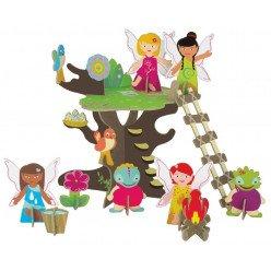 L'arbre des fées - Jouet en carton