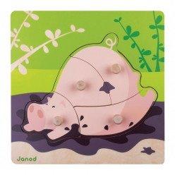 Puzzle Cochon 4 pièces - Janod