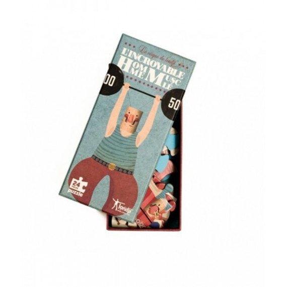 Puzzles L'Homme Musclé- 24 pièces - Londji