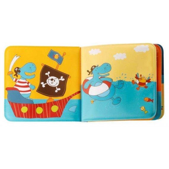 """Livre de bain """" Arnold le Pirate """" - ouvert - Lilliputiens"""