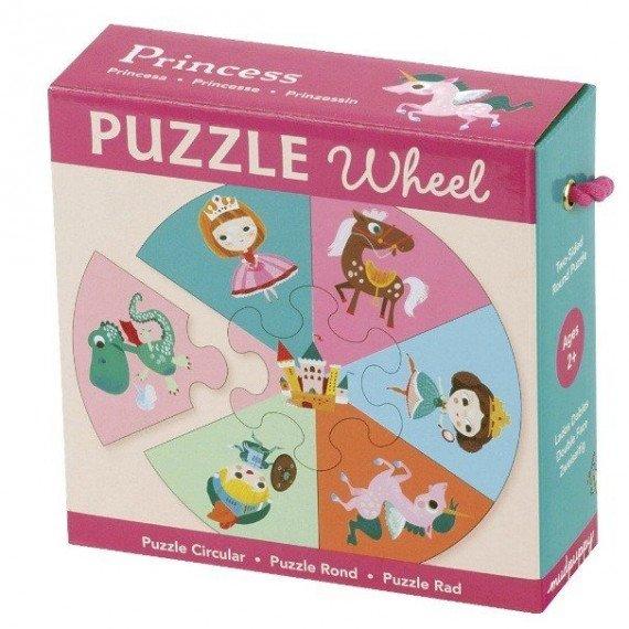 Puzzle Princesse - Puzzle rond de 7 pièces - Mudpuppy