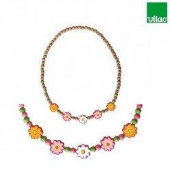 Parure Collier et bracelet Fleurs - Vilac